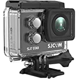 SJCAM SJ7 Star Wifi Action Camera, 4K@30FPS Ambarella A12 Chipset/2 TouchScreen/Sony Sensor/Wireless Remote Control Supported/Gyro Stabilization,Waterproof Underwater Camera (Case Included)- Black