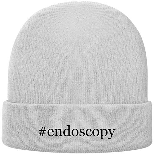 One Legging it Around #Endoscopy - Hashtag Soft Adult Beanie Cap, White