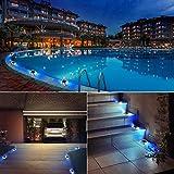 SOLMORE 4 Pack Solar Deck Lights LED Dock Light