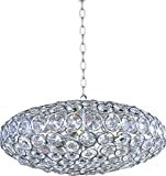ET2 E24012-20PC Brilliant 8-Light Single Pendant, Polished Chrome Finish, Crystal Glass, G9 Xenon Bulb, 4.8W Max., Dry Safety Rated, 2900K Color Temp., Low-Voltage Electronic Dimmer, Glass Shade Material, 2250 Rated Lumens Review