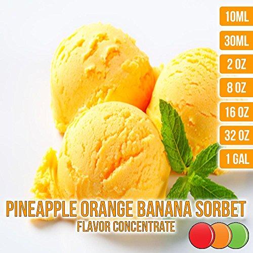 OOOFlavors Pineapple Orange Banana Sorbet Flavored Liquid Concentrate Unsweetened (30 ml) (Pineapple Banana Orange)
