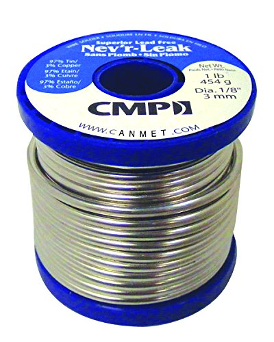 Nev'r Leak WSPNL12501 97/3 Tin/Copper Superior Lead Free Solder, 1 Pound Spool, 1/8