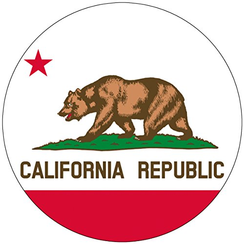 Chic 3 in 1 California Flag Jumbo Badge Button Pin 3.75 Inches (Party City Utah)