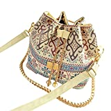 Shoulder Bags Magicub Fashion Women Linen Satchel Clutch Handbag (Floral)