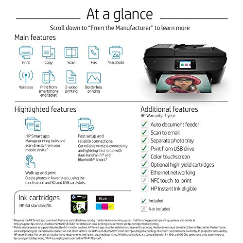 HP ENVY Photo 7855 All in One Photo Printer with Wireless Printing, Instant Ink ready (K7R96A) (Renewed) by HP (Image #6)