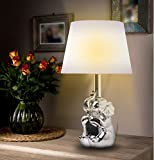 Brite Light Ceramic Elephant Gold Silver Finish Table Lamps, 19'' H
