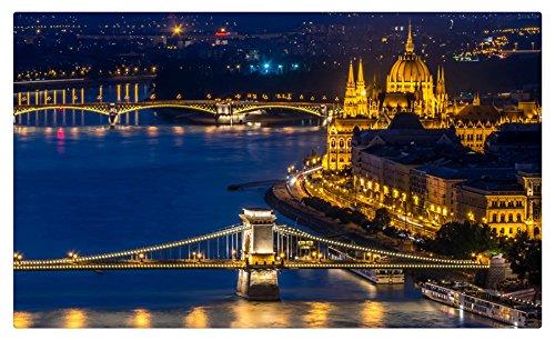 Hungría casas ríos puentes noche ciudades Budapest muebles ...