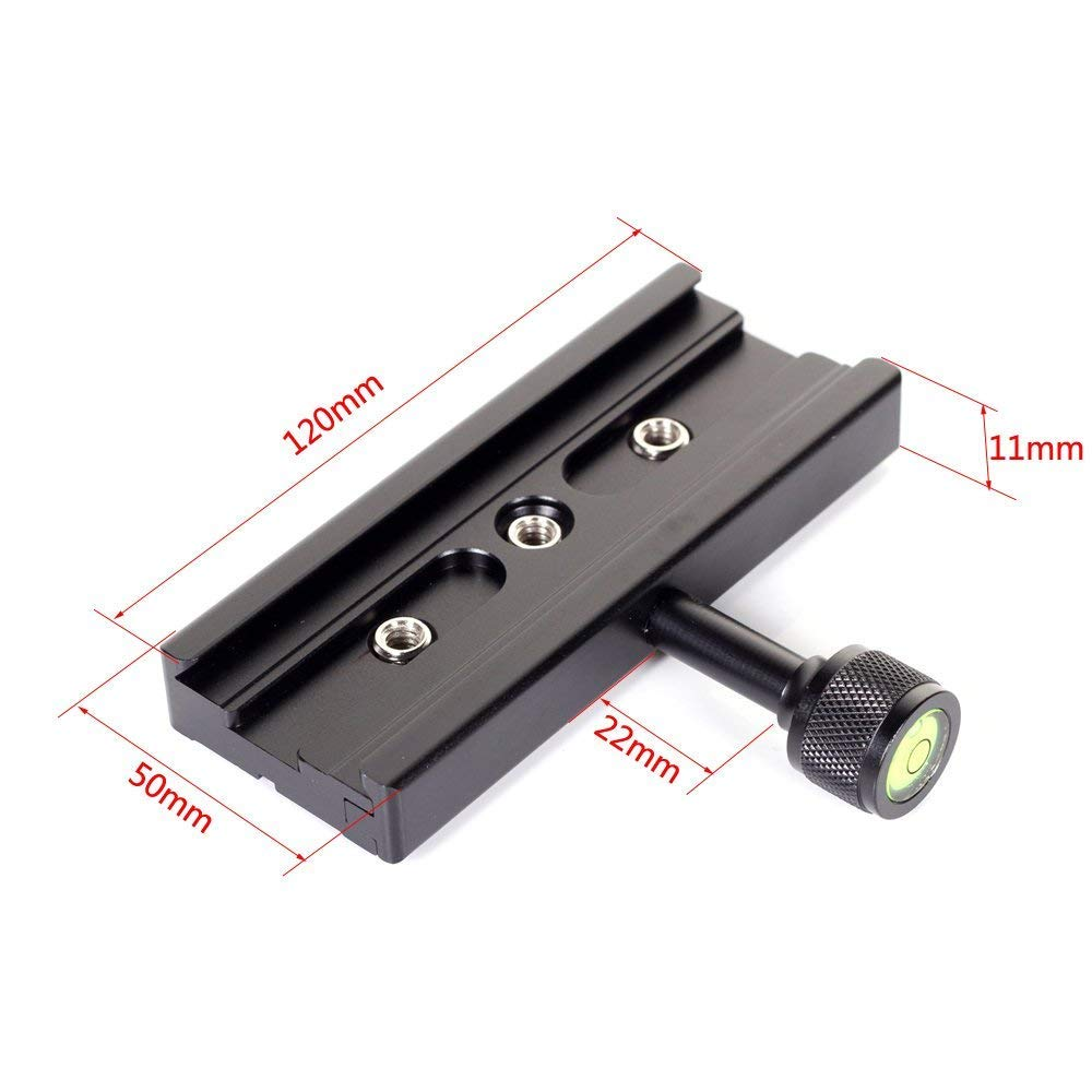 Run Shuangyu QR-120 Clamp For Quick Release Plate Fit Arca SWISS Benro Tripod Ball Head 120mm COMINU052205