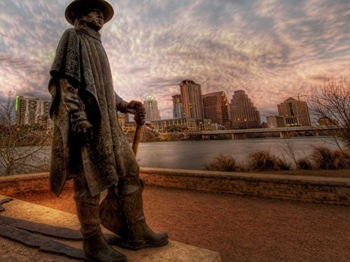 Arts Language Canvas Prints Monument for The Great Stevie Ray Vaughan in -