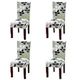 #4: YISUN Dining Chair Slipcovers,[Scenery series] Stretch Removable Washable Dining Chair Protector Cover Seat Slipcover for Hotel,Dining Room,Ceremony,Banquet Wedding Party (4, S06)
