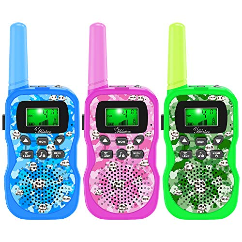 Walkie Talkies for Kids, 3 Pack 22 Channels 2 Way Radio Outside Toy with Backlit LCD Display ,3 Miles Range Panda Kids Walkie Talkies for Outside Adventures, Camping, Hiking