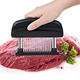 Meat Tenderizer 48 Ultra Sharp Stainless Steel Blades to Tender Meat,Professional Kitchene Tool for Steak Chicken Fish Beef Pork