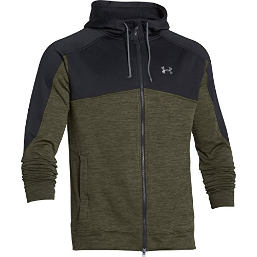Under Armour Mens UA Gamut FZ Hoodie Greenhead/Greenhead MD