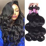 9A Brazilian Body Wave 3 Bundles Virgin Hair 100% Unprocessed Human...