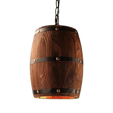 Loft americano País Madera Barril de vino Colgante Accesorio ...