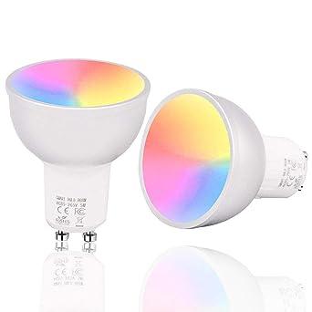 GU10 llevó bombillas inteligentes a todo color, proyector RGB 5W ...