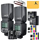Godox V860II-N 2PCS 2.4G TTL Li-on Battery Camera Flash for Nikon D800 D700 D7100 D7000 D5200 D5100 D5000 D300 D300S D3200 D3100 D3000 D200 D70S D810 D610 D90 D750+Godox X1N-T Flash Trigger