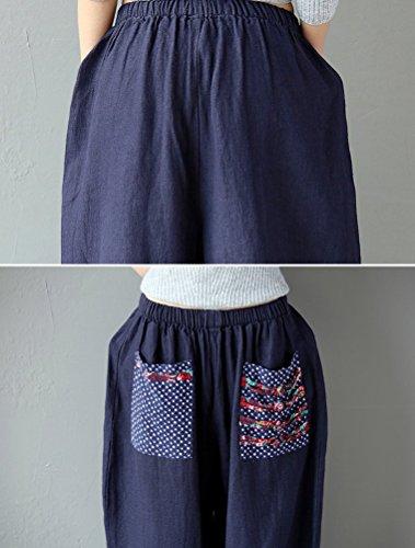 Mallimoda Marina Donna Pantalone Militare Pantaloni Sciolto Larga RBqRZ
