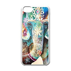Jumphigh Ganesha IPhone 5C Cases COLORFUL Ganesha, {White}