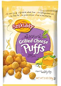 Snikiddy Snacks Grilled Cheese Puffs, 1-Ounce (Pack of 24)