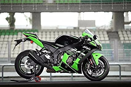 Amazon.com: FocusAtOne Green Black White Complete Fairing ...