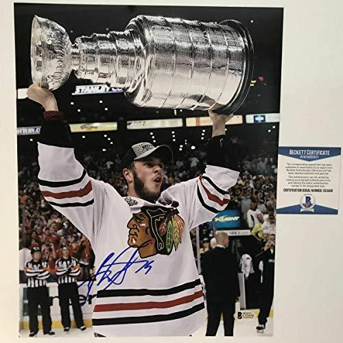 Autographed Signed Autograph Jonathan Toews Chicago Blackhawks 11x14 Photo Beckett Beckett Authentic