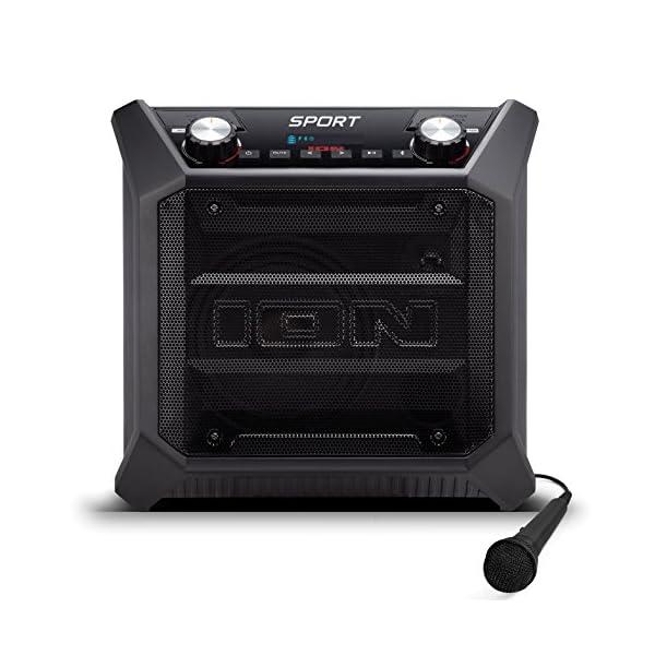 ION Audio Sport - Enceinte 50 W Résistant à l'Eau, avec Batterie Rechargeable Longue Durée, Étanchéité IPX4, Bluetooth, Port USB de Charge, Entrée Aux et Microphone Haute-Définition 2