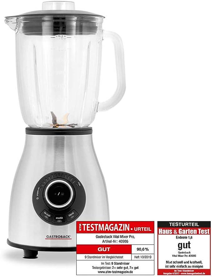 Gastroback Vital Mixer Pro Batidora de vaso smoothie, Jarra de ...