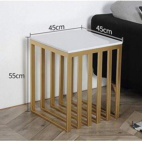 Koel Gut Tv-lamp telefoon tafel bijzettafel eiken tafel Scandinavisch marmer bijzettafel hoektafel goud woonkamer salontafel ijzeren kunst nachtkastje, MK  RIRcVn6