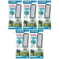 Hagen - Paquete de 15, filtro de agua para acuario, delgado con cartucho de cerámica Carbon Plus