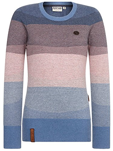 Light Striped Basic lunghe Maniche Maglione Naketano Melange Blue Donna 58qfXBBw