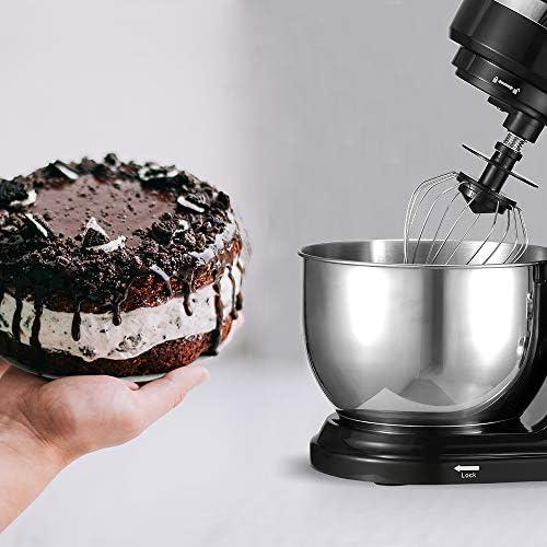 PRIXTON - Küchenmaschine Knetmaschine / Mixer mit leistungsstarkem 1000-W-Motor, 3-Schüttel-Zubehör und einer 4-l-Edelstahlschüssel | KR200B