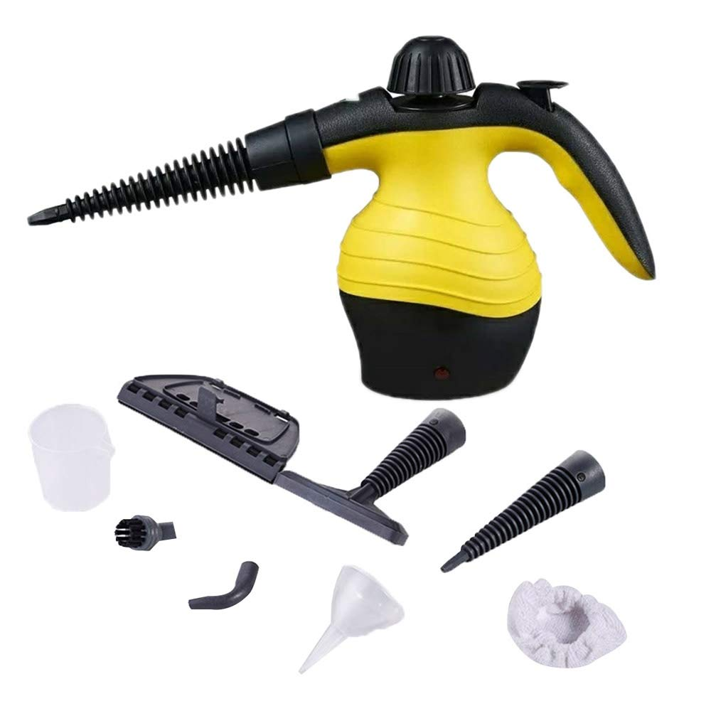 SMILESSGSP Multi Purpose Electric Steam Cleaner Portable Handheld Steamer Household Cleaner Attachments Kitchen Brush Tool Plug by SMILESSGSP