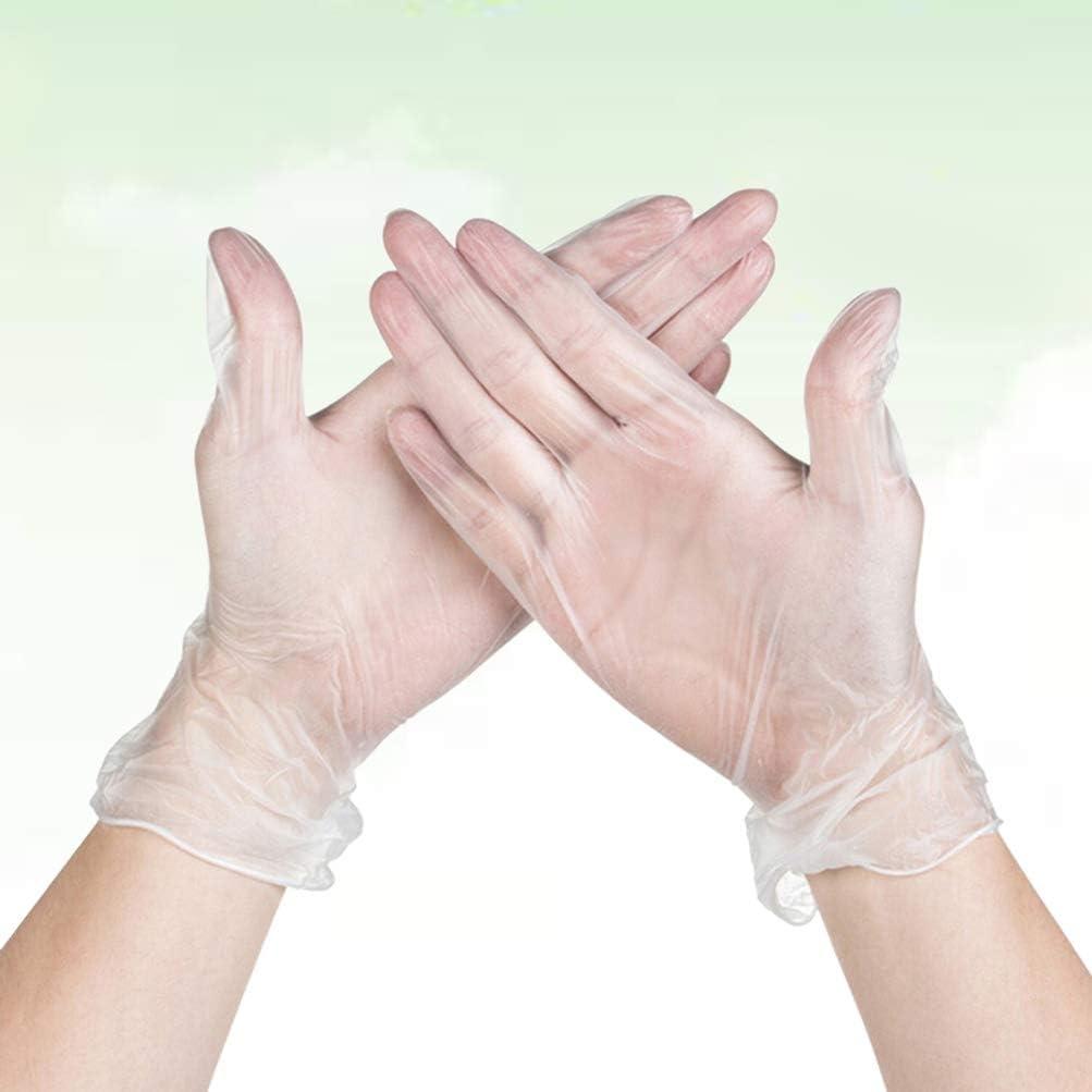 limpieza guantes desechables de pl/ástico Hakka Guantes desechables 100 unidades, PVC, transparentes restaurante para cocina cocina
