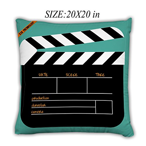 Artsbaba Pillowcases Movie Board Zipped Pillowcase Decorative Throw Pillow Cover 20''x20'' by Artsbaba