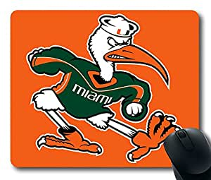 Custom Gaming Mouse Pad with Miami Hurricanes04 Non-Slip Neoprene Rubber Standard Size 9 Inch(220mm) X 7 Inch(180mm) X 1/8(3mm) Desktop Mousepad Laptop Mousepads Comfortable Computer Mouse Mat