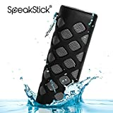 Waterproof Bluetooth Speaker Speakstick Prime With 2 Powerful 5w Speakers And 5600mah Power Bank, Shockproof & Dustproof (Black)