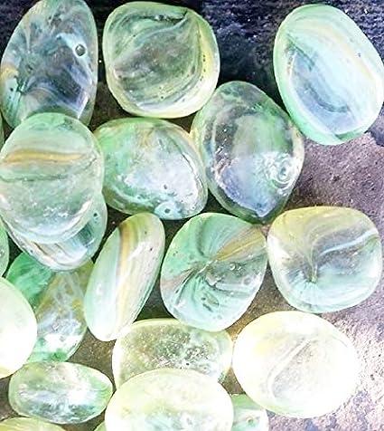 500 G (Aproximadamente 30) piedras de cristal claro con un toque de limón y