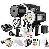 Godox AD600BM 600Ws GN87 1/8000 HSS Outdoor Flash Strobe Monolight with X1N Wireless Flash Trigger, 8700mAh Battery, Portable Flash Head and other Useful Flash Accessories
