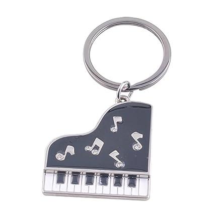 Haodou Llavero Piano de con la Llavero de la Guitarra del ...