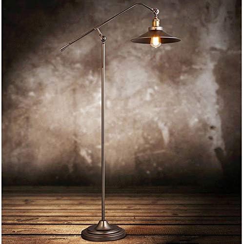 Floor Lamp Retro Industrial Wind European Style Iron Retro Retro Study Living Room Bedroom Creative Long Arm Fishing Floor Lamp