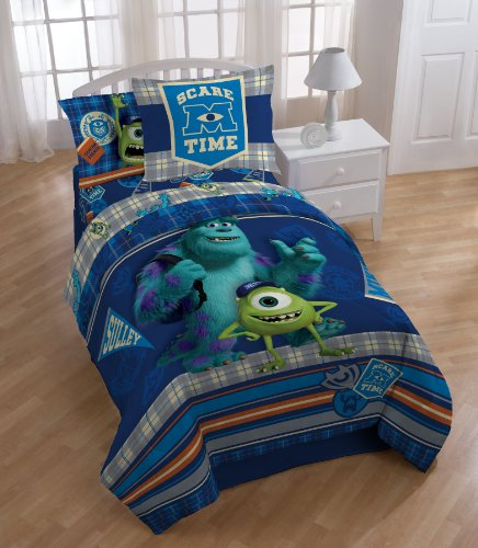 Disney Monsters University Scare-Care Reversible Comforter Set, Full (Monster University Bed Set)