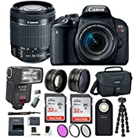 Canon EOS Rebel T7i DSLR w/18-55mm lens + TTL Swivel Flash & 64GB Supreme Bundle