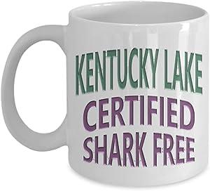 Kentucky Lake, Certified Shark Free: Ceramic Coffee Mug