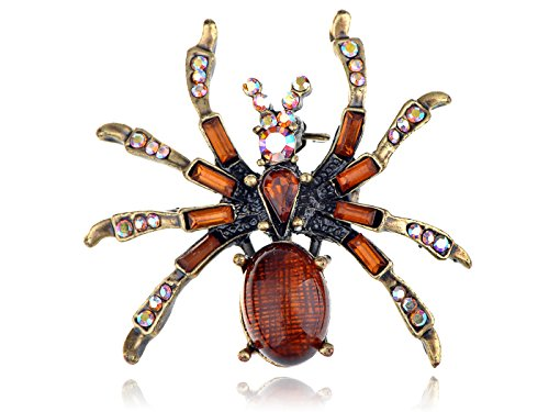 Alilang Aumre Boreale Crystal Rhinestone Bead Body Spider Halloween Fashion Pin Brooch for $<!--$8.99-->