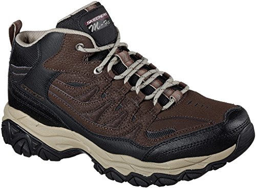 Skechers Mens After Burn M. Fit - Geardo Training Sneaker Brown/Black Size (Skechers Leather Lace Up Sneakers)