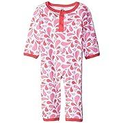 Yoga Sprout Cotton Union Suit, Pink, 6-9 M