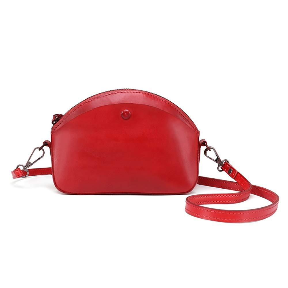 ウィメンズメッセンジャーバッグ レディースクロスボディバッグコントラストクロスボディレトロバッグハンドバッグ多機能スクエアバッグ それはショルダーバッグです (色 : 赤, サイズ : Free size) B07S46NP9Y 赤 Free size