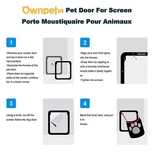OWNPETS Dog Screen Door, Lockable Pet Screen Door, Magnetic Self-Closing Screen Door with Locking Function, Sturdy Screen Door for Dog Cat by OWNPETS (Image #6)