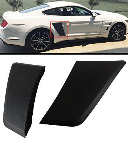 Fits For 2015-2018 Ford Mustang GT Style Rear Fender Body Side Scoops Vents ()